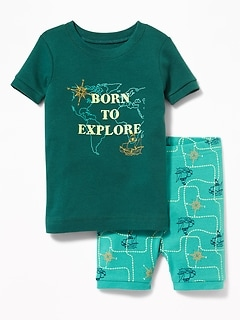 """Born to Explore"" Ship Sleep Set for Toddler & Baby"