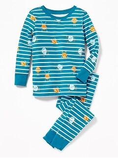 Monster-Print Sleep Set for Toddler & Baby