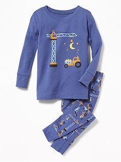 Moon & Stars Construction Sleep Set for Toddler & Baby