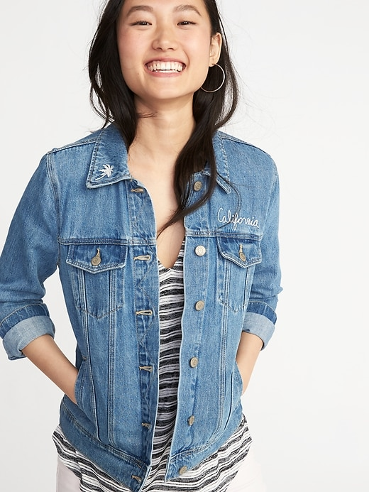 embroidered-denim-jacket-for-women by old-navy