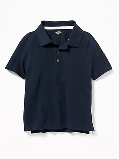 Pique Uniform Polo for Toddler Boys