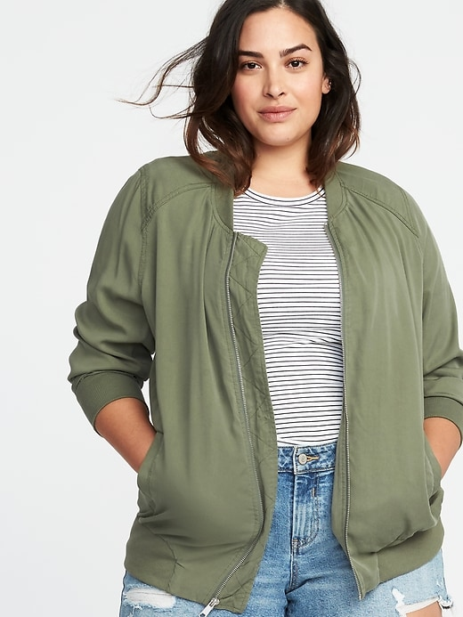 Lightweight Twill Plus Size Bomber Jacket by Old Navy