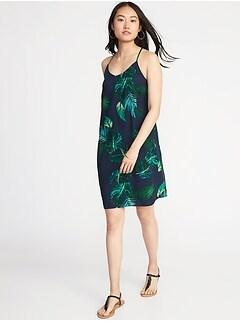 V-Neck Cami Shift Dress for Women