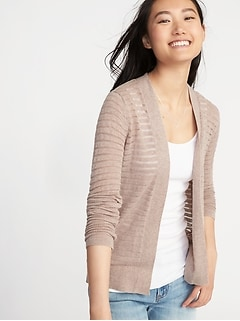 Open-Front Textured Sweater for Women