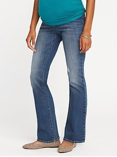 Maternity Side-Panel Boot-Cut Jeans