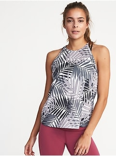 Relaxed High-Neck Performance Tank for Women