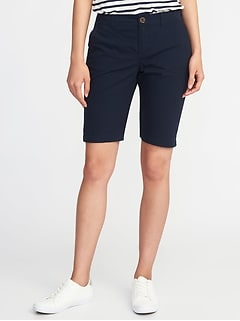 Mid-Rise Uniform Bermudas For Women