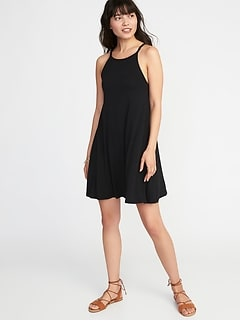 Suspended-Neck Swing Dress for Women