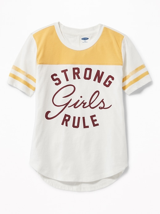 Graphic Football Style Tee For Girls by Old Navy