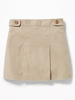 Twill Uniform Skort for Girls