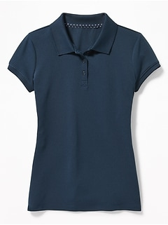 Moisture-Wicking Uniform Polo for Girls