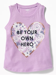 Graphic Tank for Toddler Girls