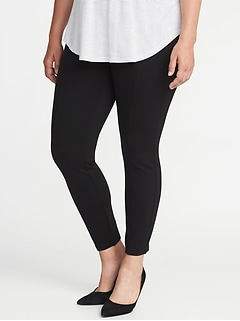 High-Rise Plus-Size Ponte-Knit Stevie Pants