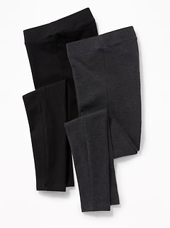 Maternity Front-Low Panel Leggings 2-Pack
