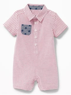 Americana Oxford One-Piece For Baby