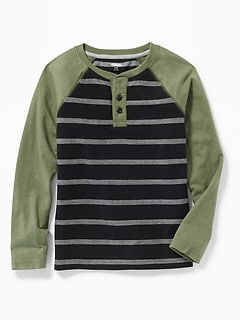 Striped Raglan Henley for Boys