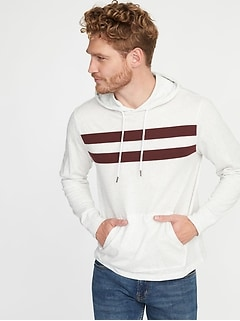 Soft-Washed Lightweight Jersey Hoodie for Men