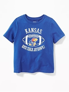 College Team Football Tee for Toddler Boys