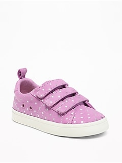 Secure-Close Polka-Dot Sneakers for Toddler Girls