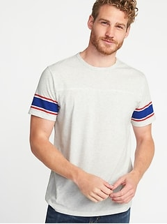 Soft-Washed Football-Style Tee for Men