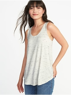 Luxe Space-Dye Swing Tank for Women