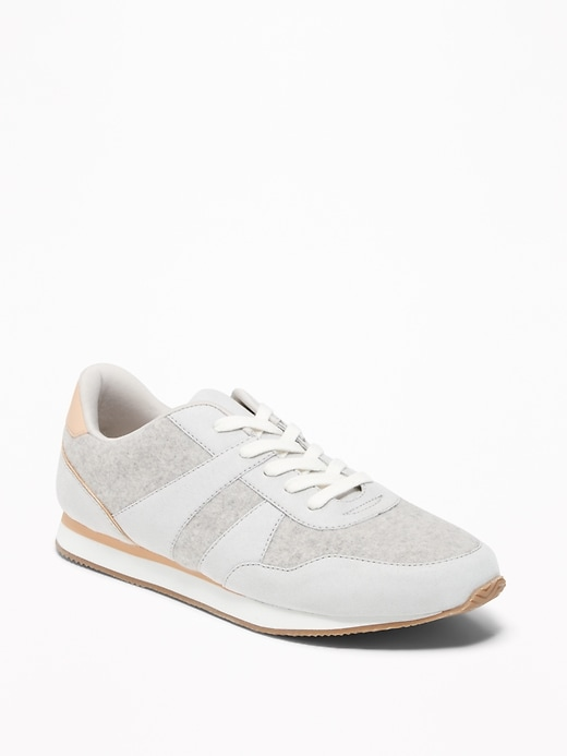 Sueded Retro Sneakers For Women by Old Navy