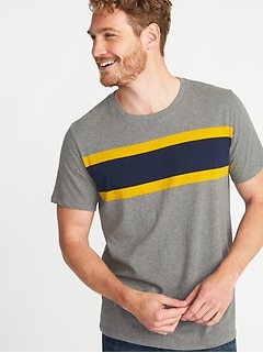 Soft-Washed Perfect-Fit Crew-Neck Tee for Men