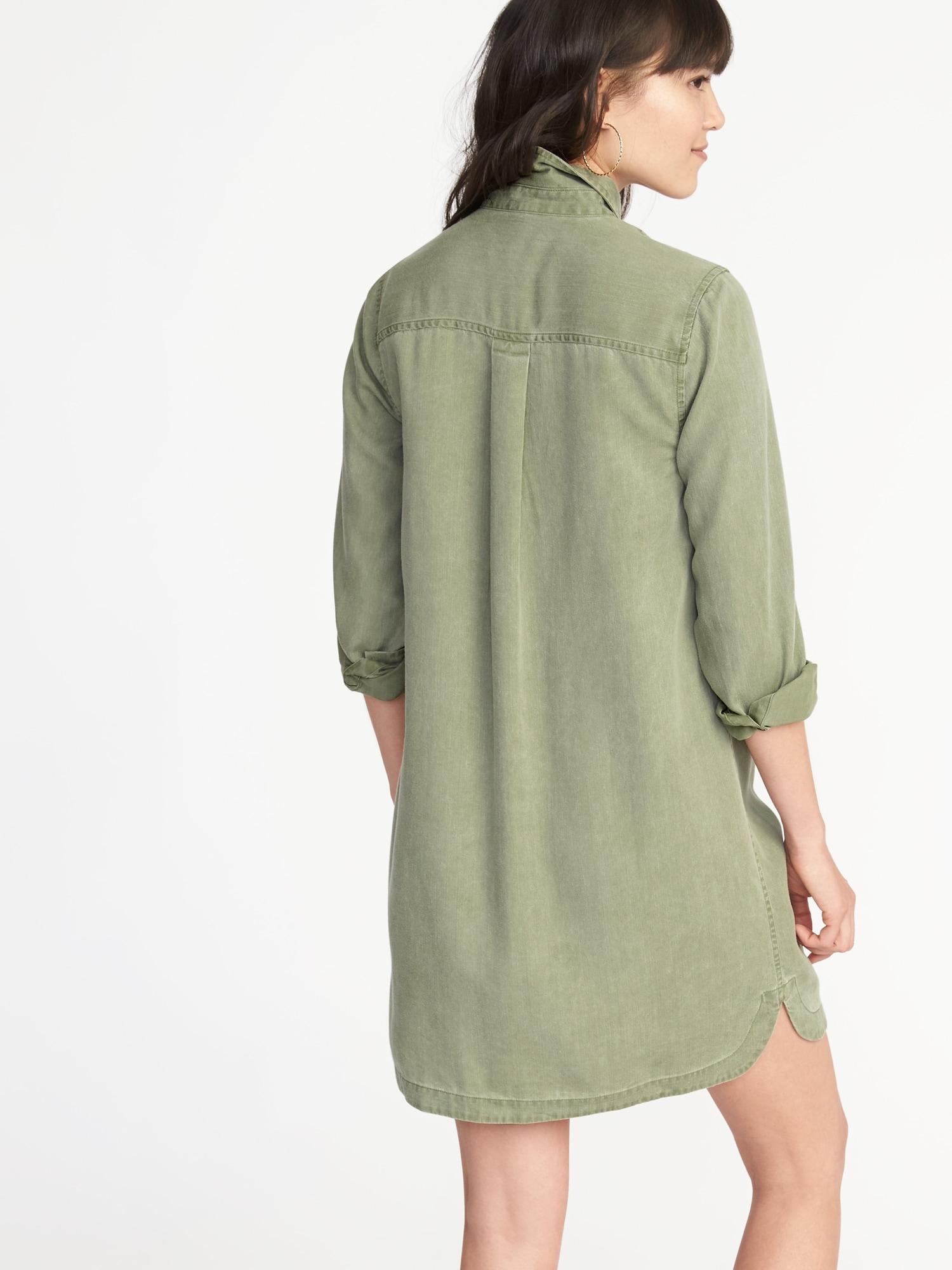 Tencel Shirt Dress For Women Old Navy