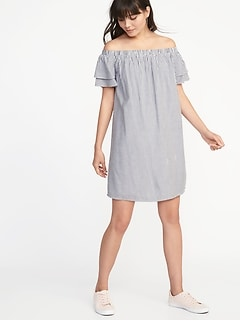 Off-the-Shoulder Shift Dress for Women