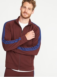 Lightweight Go-Dry Full-Zip Track Jacket for Men