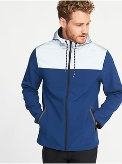 Go-Warm Reflective-Trim Hooded Jacket for Men
