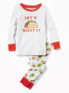 """Let's Taco 'Bout It"" Sleep Set for Toddler & Baby"