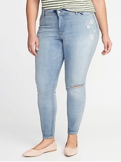 High-Rise Secret-Slim Pockets Plus-Size Super Skinny Rockstar Jeans