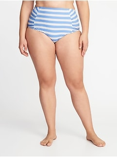 High-Rise Secret-Slim Plus-Size Swim Bottoms
