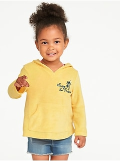 Graphic Loop-Terry Cali Fleece Hoodie for Toddler Girls