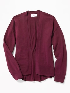 Relaxed Open-Front Cardi for Girls