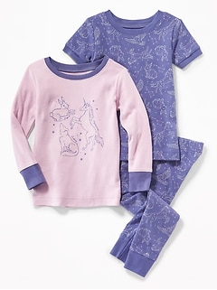 Constellation-Print 3-Piece Sleep Set for Toddler Girls