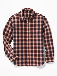 Plaid Built-In Flex Classic Shirt for Boys