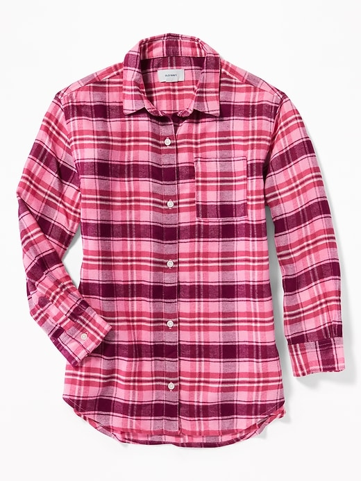 Plaid Boyfriend Tunic Shirt For Girls by Old Navy