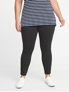 bb1e63aa3b16d High-Rise Plus-Size Ponte-Knit Stevie Pants