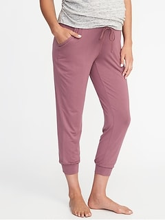 fd3c49b2f55 Maternity Cropped Lounge Pants