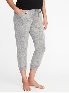 Maternity Luxe Cropped Lounge Pants