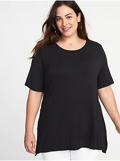 Luxe Elbow-Sleeve Plus-Size Tunic Tee