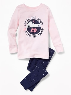"""Under the Stars & Over the Moon"" Sleep Set for Toddler Girls & Baby"