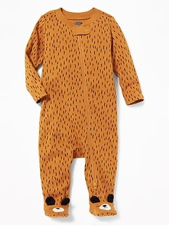 Bear-Critter Footed One-Piece for Baby
