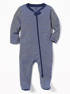 Striped Footed One-Piece for Baby