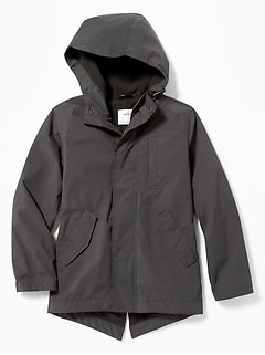 Water-Resistant Hooded Parka for Boys