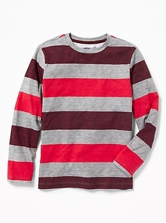 Softest Crew-Neck Striped Tee for Boys