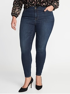 High-Rise Plus-Size Rockstar Super Skinny Jeans