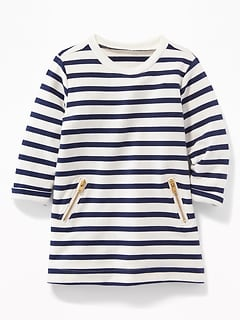 French-Terry Pocket Dress for Baby